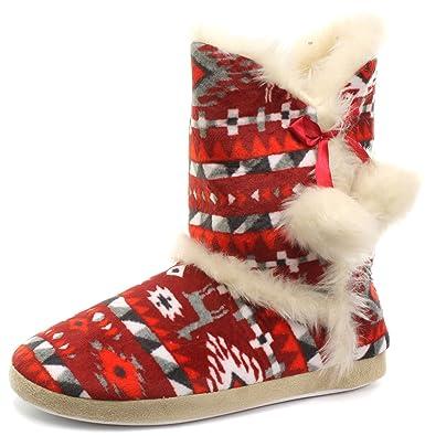 Womens Annabelle Gretel Farrah Fairisle DUNLOP Fluffy Warm Knitted ...