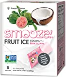 Smooze All Natural Fruit Ice, Coconut & Pink Guava, 17.6 Ounce Boxes (Pack of 4)