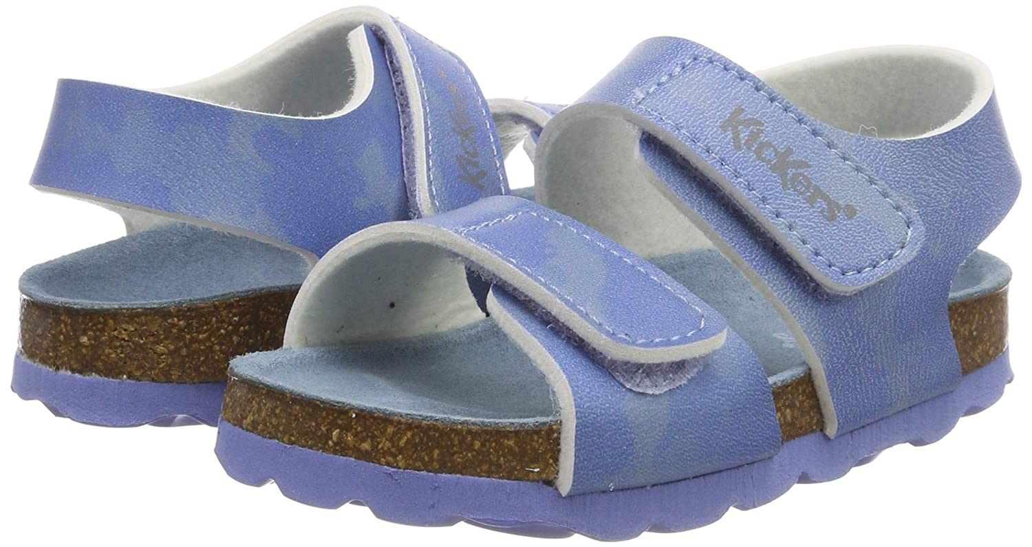 Blue Kickers Unisex Babies/' Summerkro Sandals Bleu Camouflage 53 5 UK