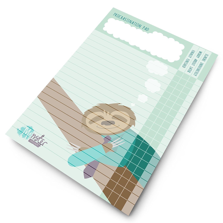 Monster Stationery - Cuaderno de procrastinación A4 - Agenda ...