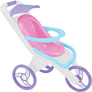 product image for American Plastic Toys 3-in-1 Pink Baby Doll Stroller, Carrier, and Feeding Chair, Convertible, Removable Seat, Learn to Care and Nurture, Safe BPA-Free Plastic, for Kids Ages 3+