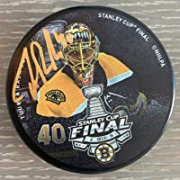 $89 » Tuukka Rask Boston Bruins Signed Autographed 2019 Stanley Cup Final Photo Puck