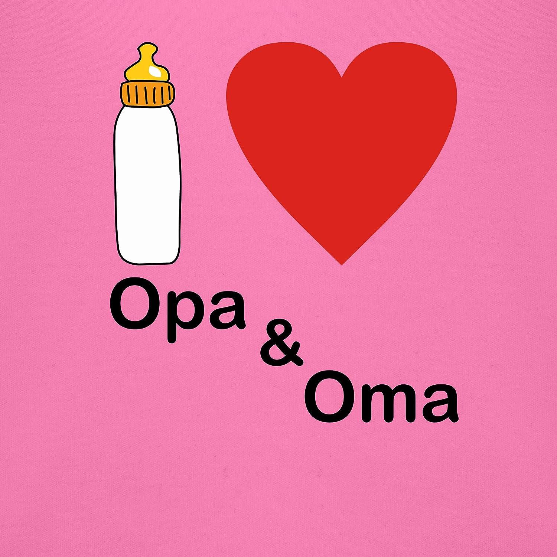 Up to Date Baby I Love Opa und Oma Nuckelflasche Shirtracer Baby Body Kurzarm f/ür Jungen und M/ädchen