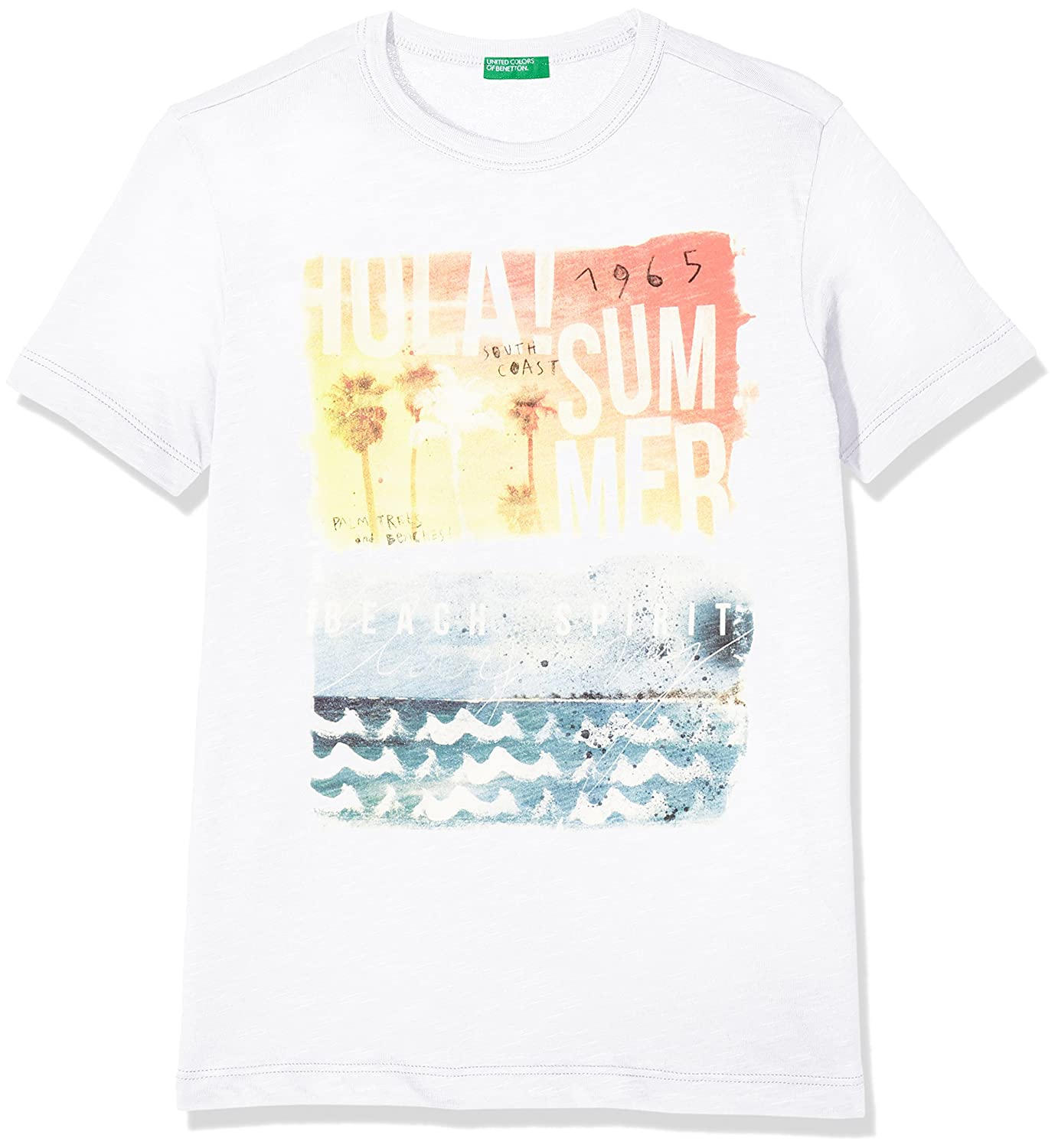 United Colors of Benetton T-Shirt Camiseta, Blanco (White 101 ...