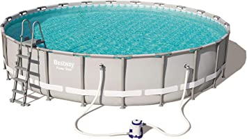 Bestway Power Steel Pool Set Juego de Piscinas con Marco de Acero con Bomba de Filtro, Gris, 671 x 132 cm: Amazon.es: Juguetes y juegos