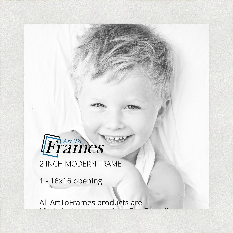 Amazon.com - ArtToFrames 16x16 inch Modern White Frame Picture Frame ...