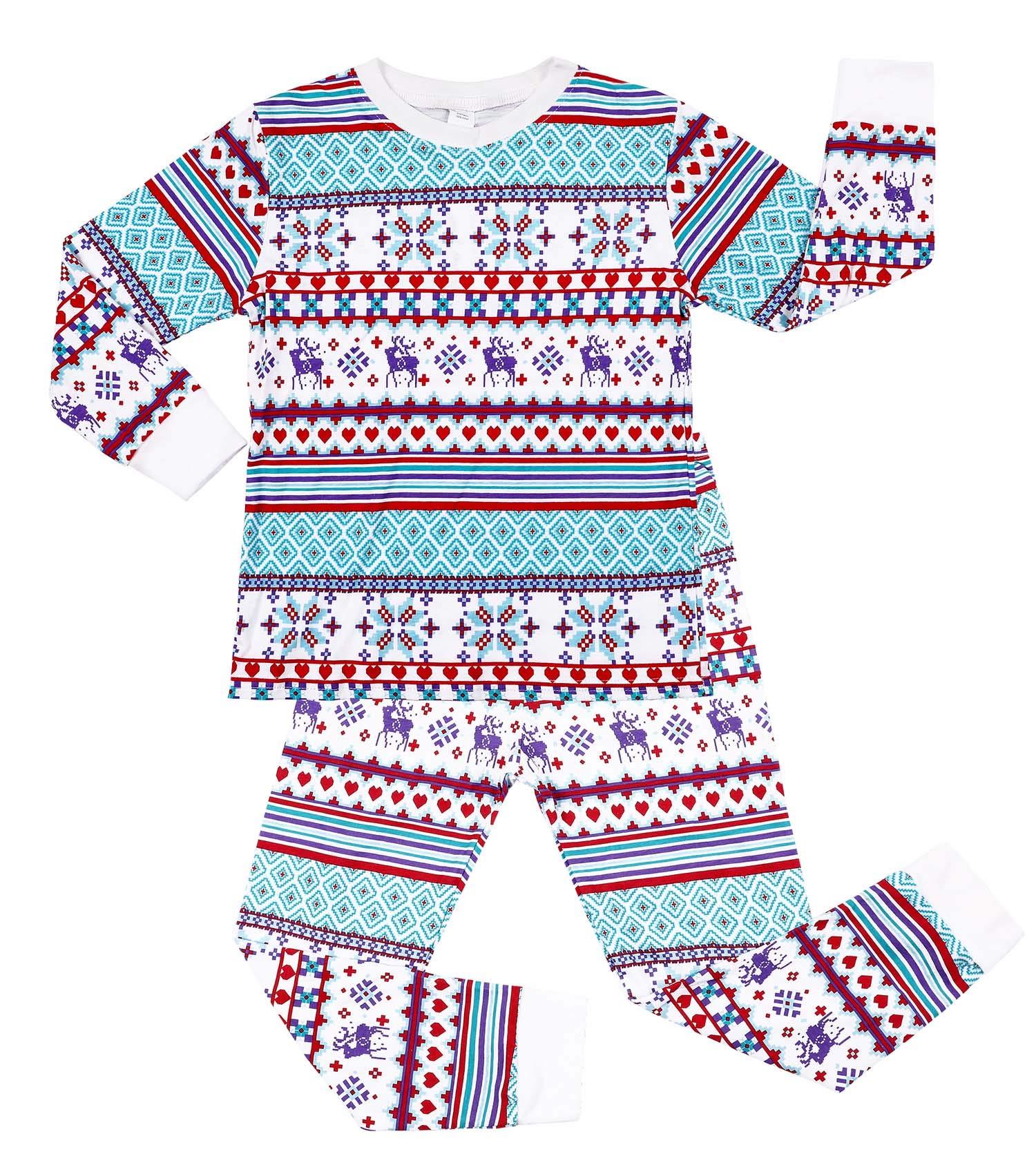 8f3a001406 V FOR CITY Children Christmas Pajamas Sets 3T Toddler Boy Girl Sleepwear  Reindeer Pajama Cotton PJS