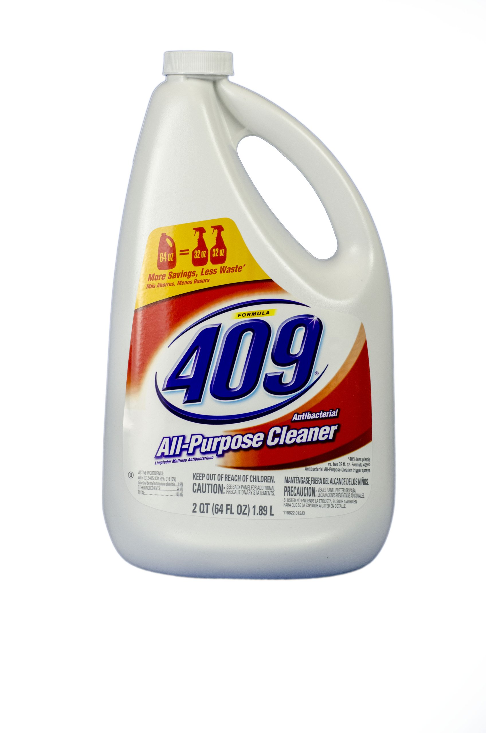 Formula 409 00636 Antibacterial Kitchen All Purpose Cleaner Disinfectant, Regular, 64oz Refill