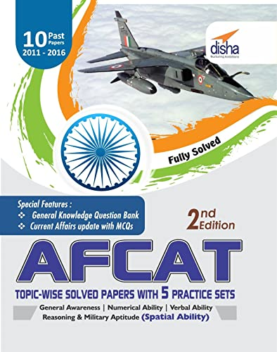 AFCAT Topic-wise Solved Papers (2011-16) with 5 Practice Sets