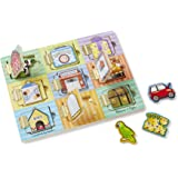 Melissa & Doug Hide and Seek Wooden Activity Board with Wooden Magnets