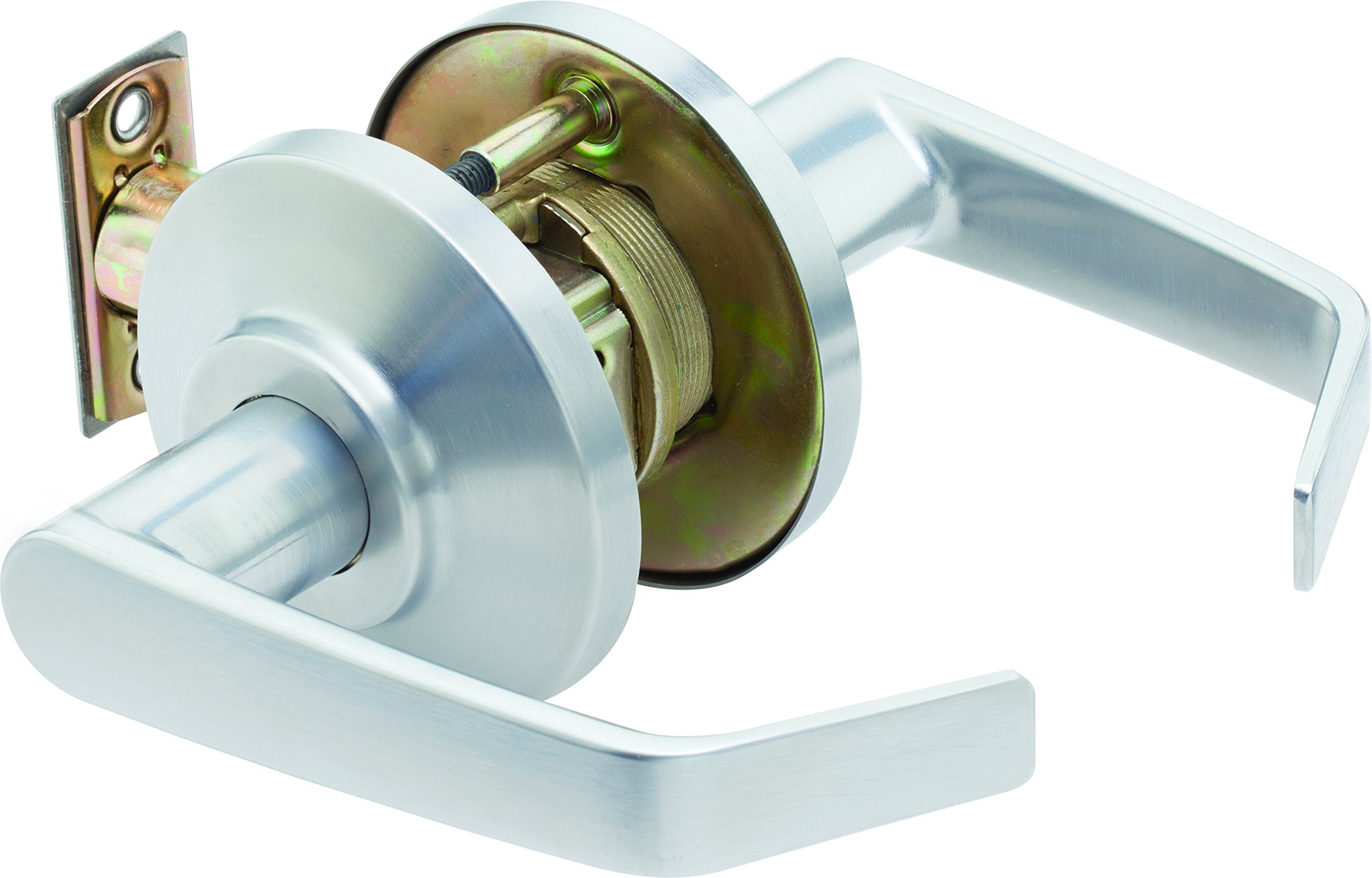 Stanley Best 7KC 30 N 15D S3 626 Keyless Contour Angle Return Medium Duty Lockset, Passage, Satin Chrome, 2''