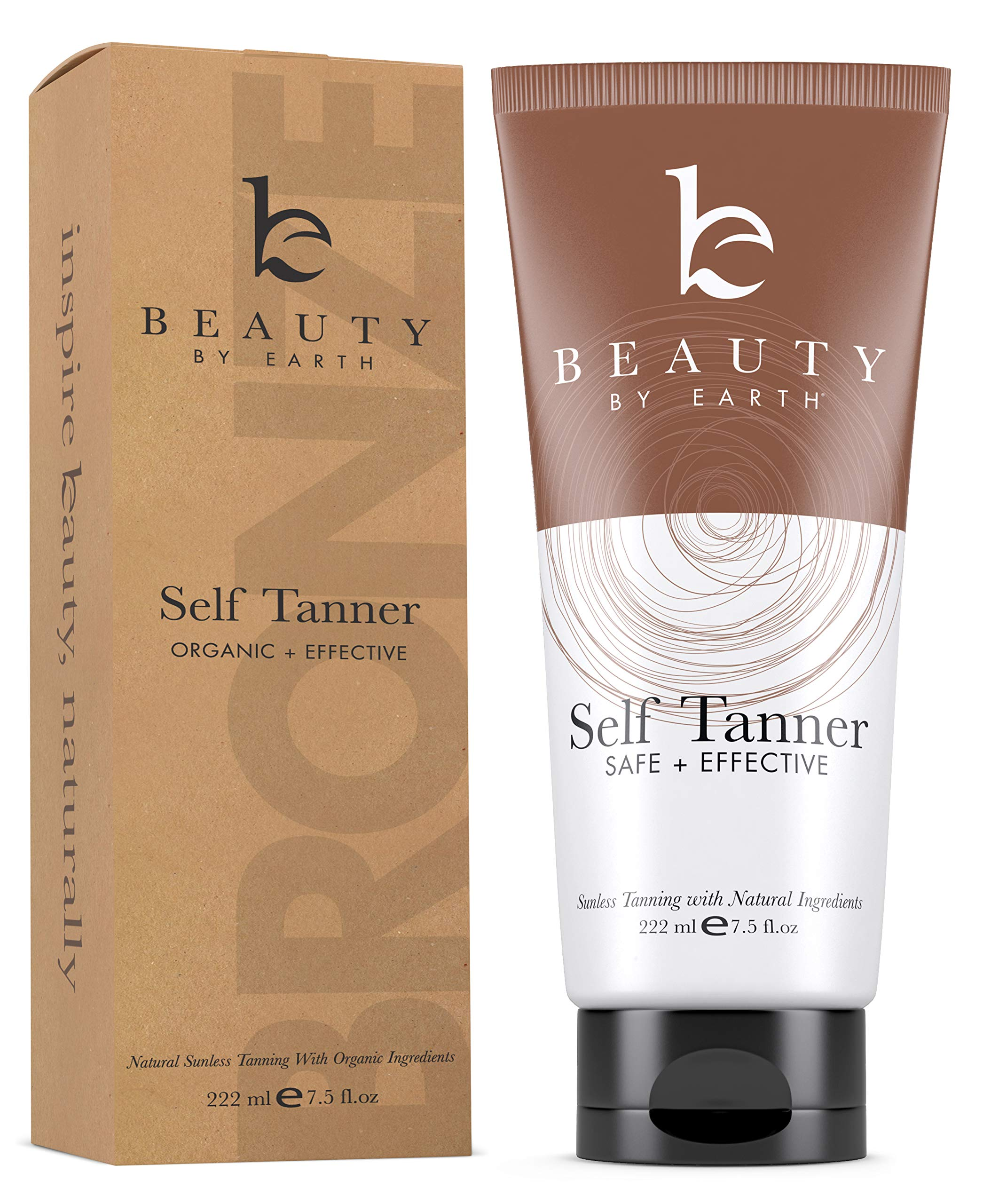 Self Tanner with Organic & Natural Ingredients, Tanning Lotion, Sunless Tanning Lotion for Flawless Darker Bronzer Skin, Self Tanning Lotion - Self Tanners Best Sellers, Fake Tan by Beauty by Earth