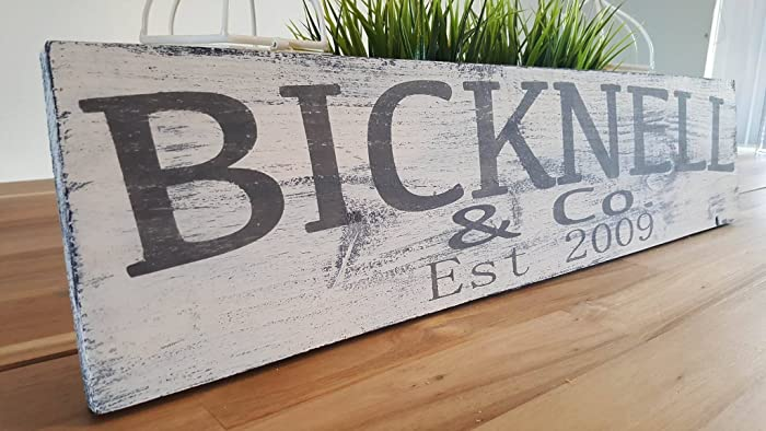 Amazon Last Name Sign Farmhouse Wood Sign Personalized Wood