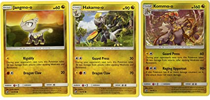 Crimson Invasion 77//111 Rare Card lot Evolution Set Kommo-o Hakamo-o Jangmo-o