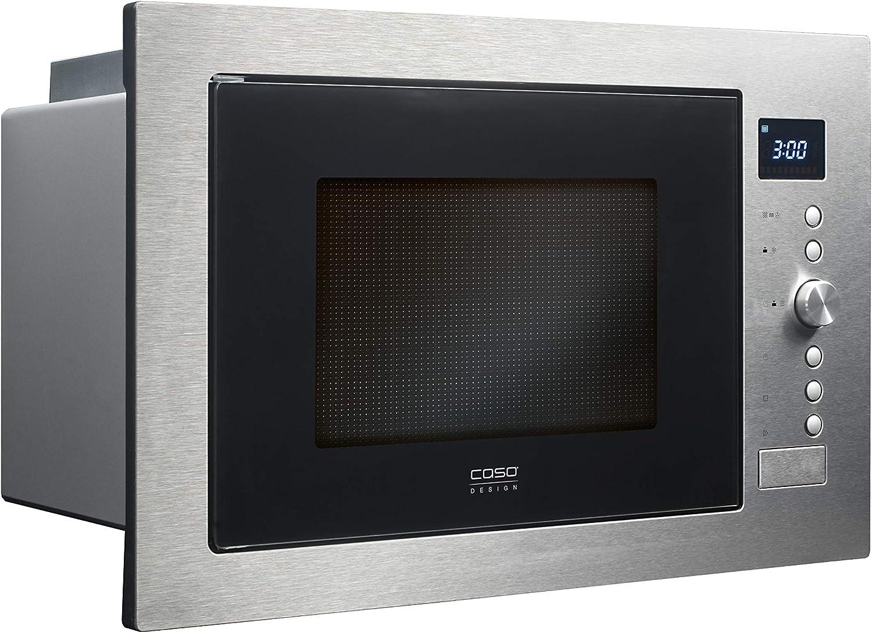 CASO | EMCG32 3-in-1 Einbau-Mikrowelle mit Grill und Heißluft 2500W | Backofen-Funktion - Einbau Mikrowelle