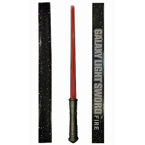 Espada láser Galaxy FIRE - Esta espada DELUXE ROJA se ilumina en color rojo brillante y emite un auténtico zumbido al encenderla y apagarla. Ofrece mayor durabilidad y viene con un envoltorio de regalo listo para usar. Espada roja luminosa