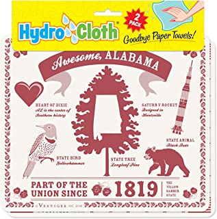 product image for Fiddler's Elbow Awesome, Alabama Hydro Cloth | Eco-Friendly Sponge Cloths | Reusable Swedish Dish Cloths | Set of 2 Printed Sponge Cloths | Replaces 30 Rolls of Paper Towels