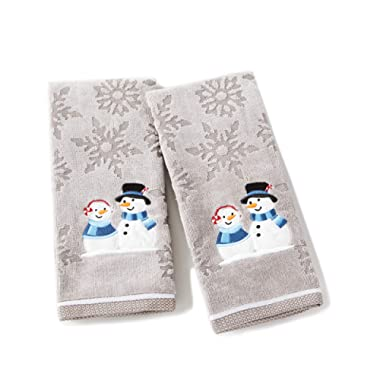 SKL HOME by Saturday Knight Ltd. Peppermint Couple Hand Towel Se, Gray
