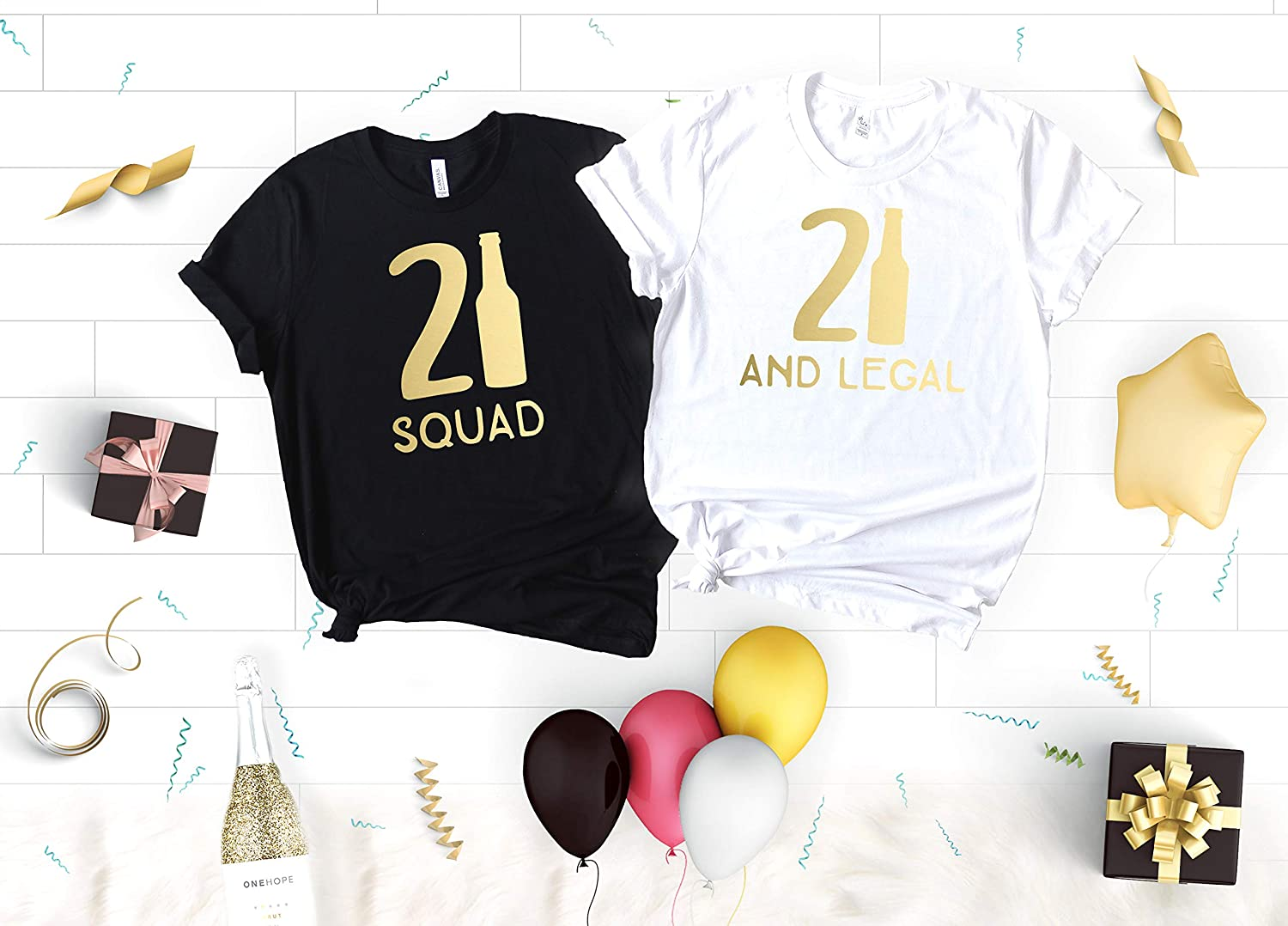 Funny Birthday Party Shirts For Women 21st 21 And Legal Squad Soft Crew Neck V T The Girl