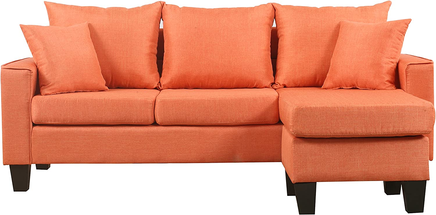 Rose Red Divano Roma Furniture Modern Sectional
