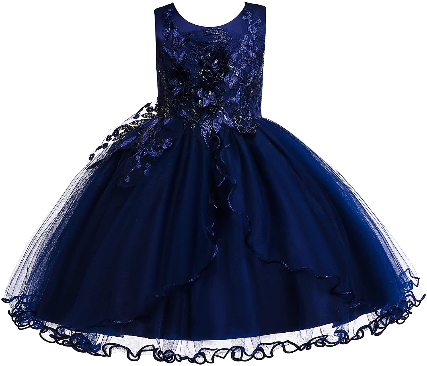 US Girls Princess Dresses Toddlers Party Wedding Birthday Lace Back Formal Gown