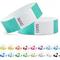 linie zwo®, Lot de 100 bracelets d'identification Tyvek® 19 mm, diverses couleurs disponibles