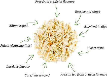 Cebolla Blanca Seco Picada Orgánica - Cebollas Blancas Cortadas En Cuadritos - Copos De Calidad Finamente Picados 100g: Amazon.es: Alimentación y bebidas