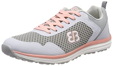 Bruetting Damen Movement Sneaker, Grau (Grau/Salmon Grau/Salmon), 38 EU