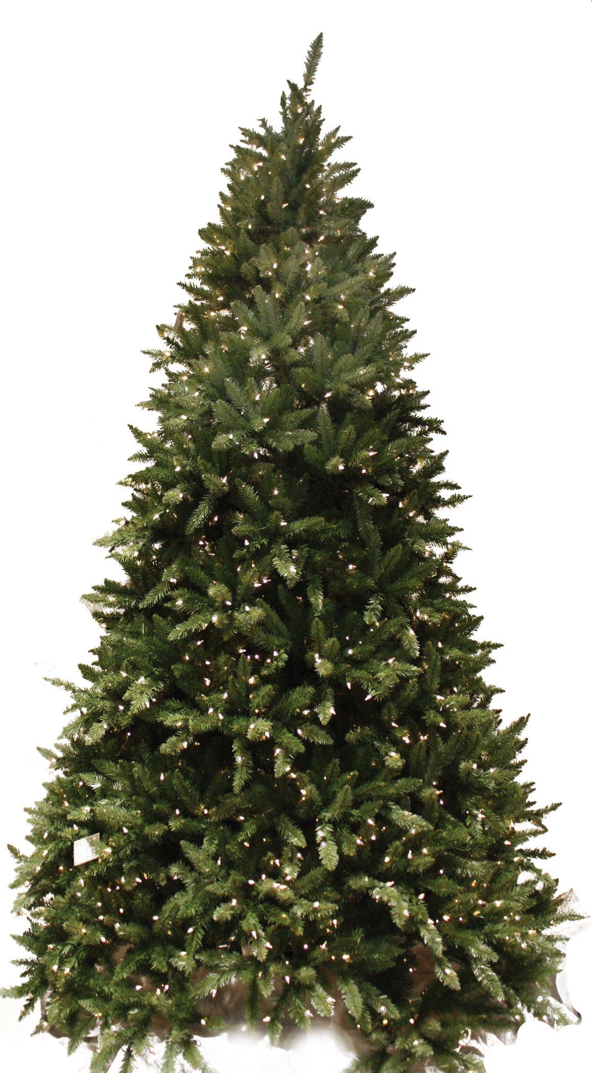 Good Tidings 7.5Ft Douglas Fir Artificial Prelit Christmas Tree, Clear Lights