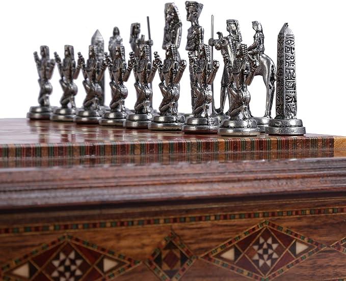 GiftHome (sólo Piezas de ajedrez Antiguo Egipto, Figuras de Cobre Antiguo Faraón, Piezas de ajedrez de Metal Hechas a Mano, King 3.5 Inc (Tabla no incluida): Amazon.es: Hogar