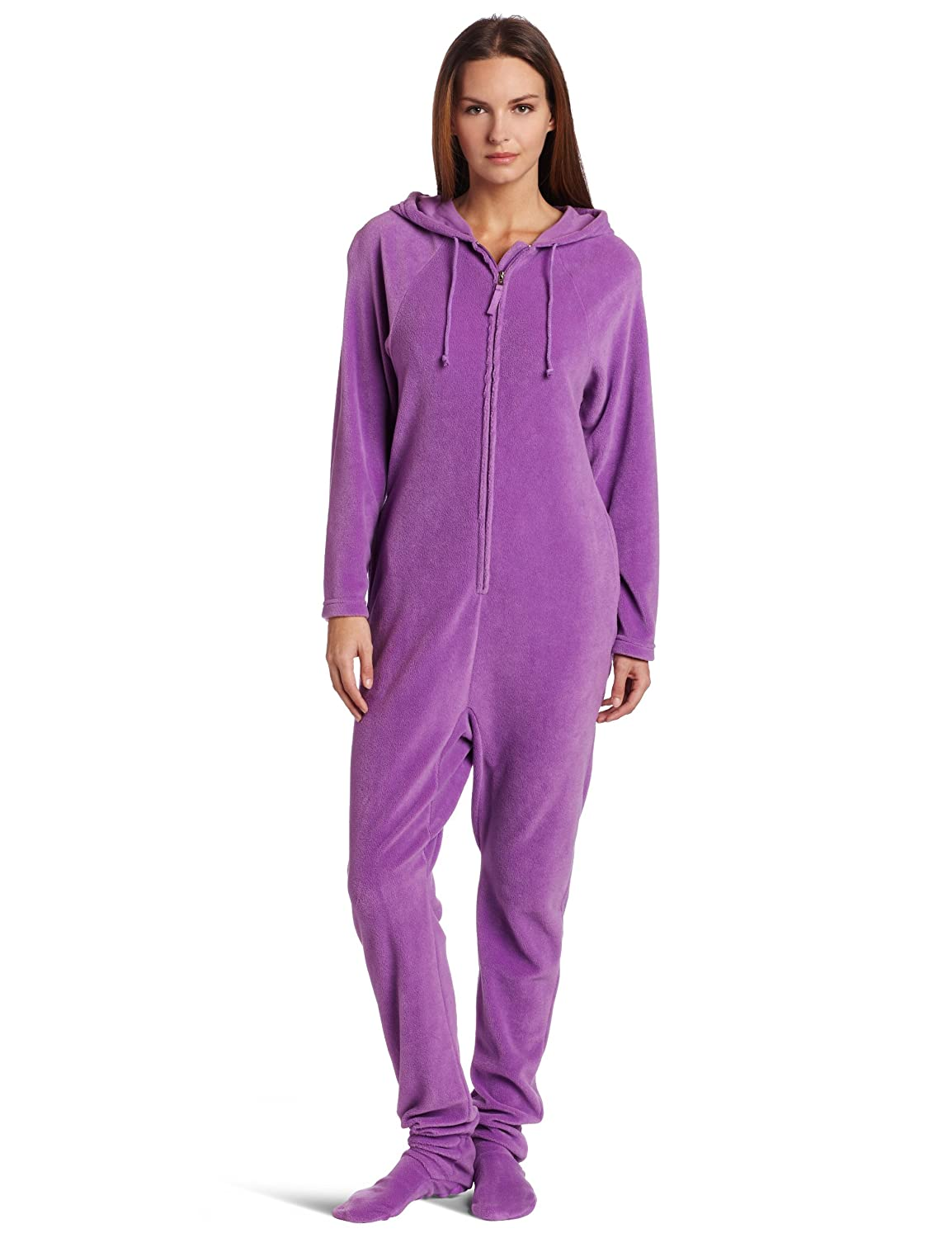 Casual Moments Women's One-Piece Footed Pajama 9289