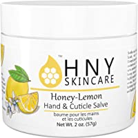 HNY Skincare Honey-Lemon Hand & Cuticle Salve, 100% Natural, Made with Organic Beeswax and Olive Oil, Moisturizing Balm…