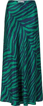 Steps - Falda de mujer con estampado de cebra, de tejido suave ...