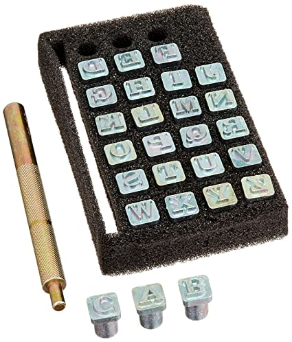 Amazon Tandy Leather Easy To Do Stamp Set Alphabet 06 Cm 1 4