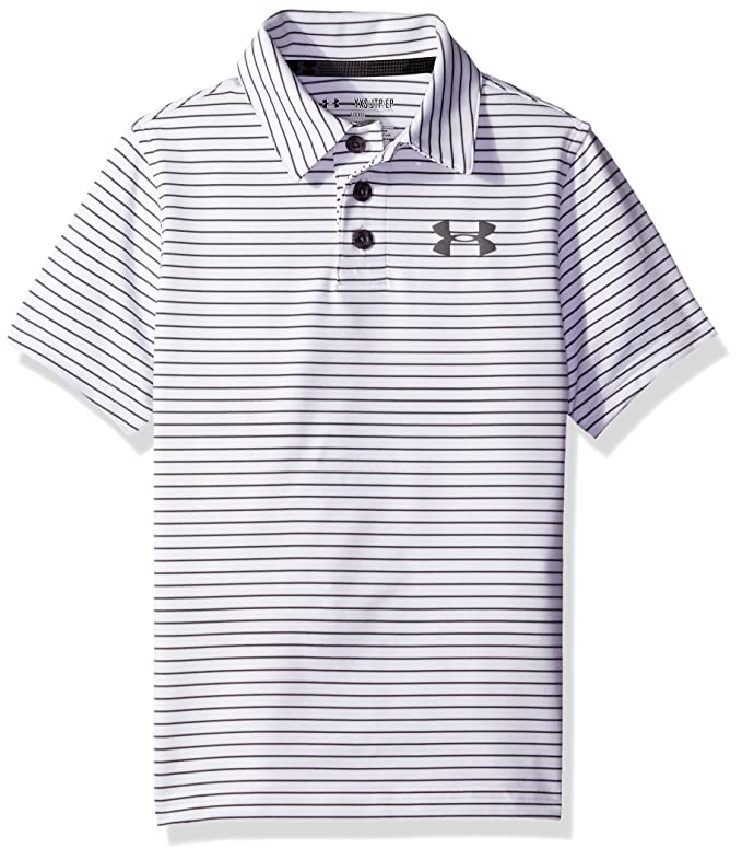 4fc490f7 Amazon.com: Under Armour Boys' Composite Stripe Polo, White (100), Youth  X-Large: Sports & Outdoors