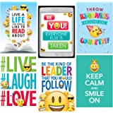 Creative Teaching Press Wall Poster Emoji Fun Inspire U 6 Pack Ctp 8093