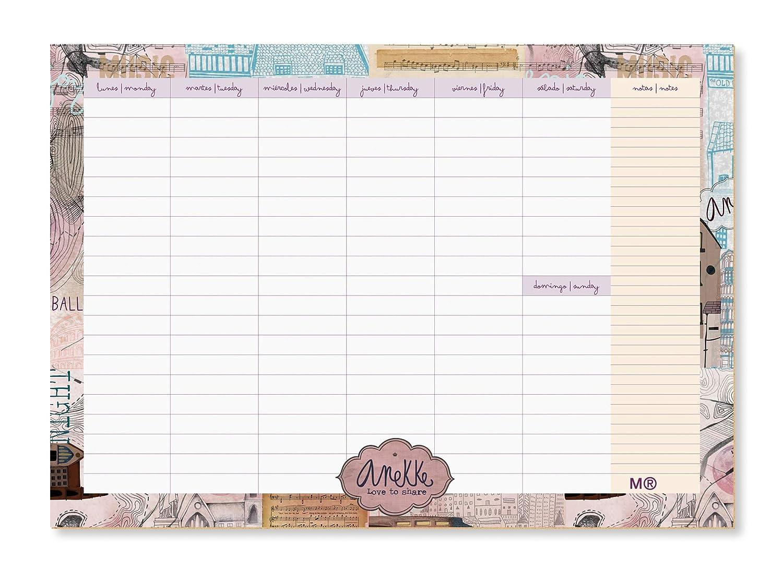 Anekke 7103 - Planning ballerina: Amazon.es: Oficina y papelería