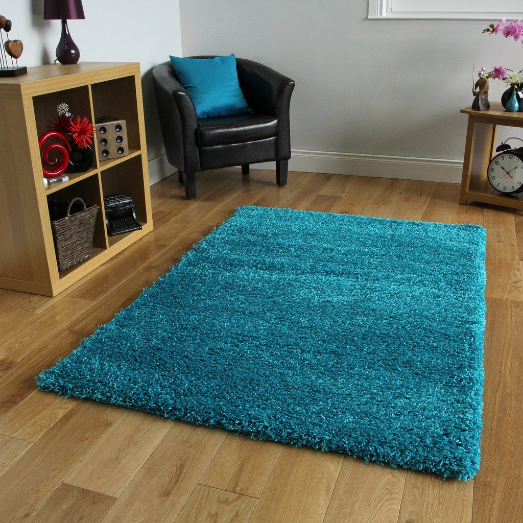The Rug House Teal blu tappeto spesso, 7taglie disponibili, Blue, 60_x_110_cm AHOC XS Vancouver Teal 6554_3
