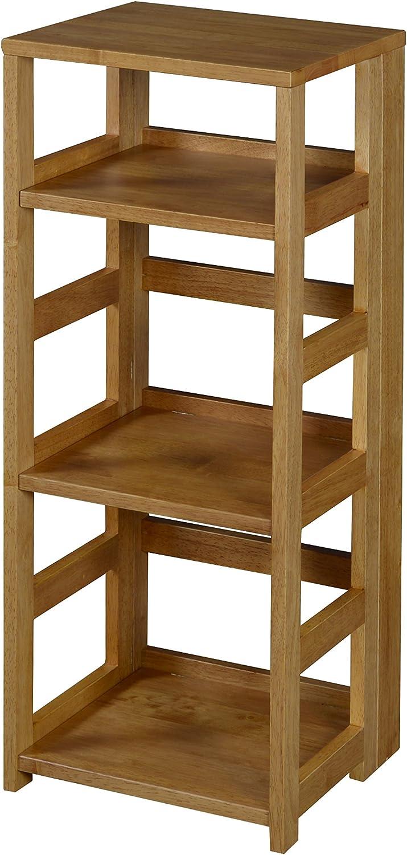 Niche Flip Flop Square Folding Bookcase, 34-inch, Medium Oak