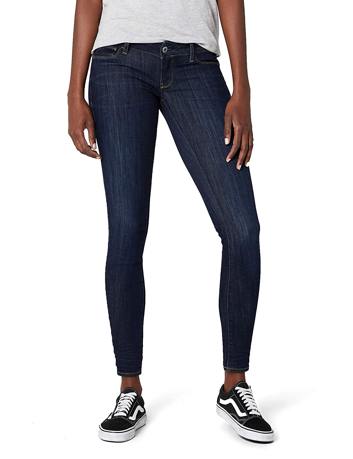 TALLA 31W / 34L. G-STAR RAW 3301 Deconst Low Skinny Wmn - Amazon Exclusive Style - Vaqueros Skinny Mujer