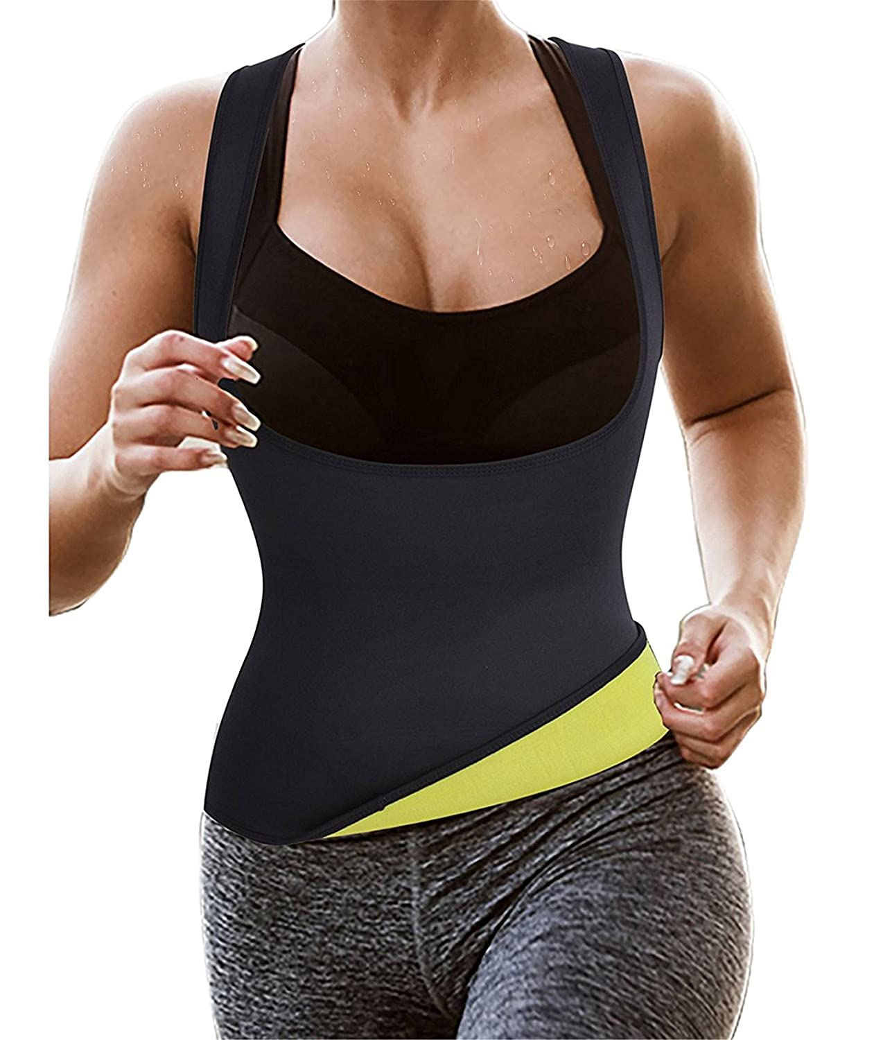 da7975469c9 Gotoly Hot Thermo Sauna Vest for Weight Loss Suit Sweat Neoprene Slimming Body  Shaper  Amazon.co.uk  Clothing
