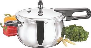 Vinod V-1.5L Splendid Plus Handi Stainless Steel Pressure Cooker, 1.5-Liter