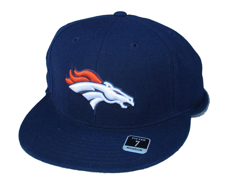 Denver Broncos Fittedサイズ7 NFL Authentic NavyフリースBack Hatキャップ   B01EVW9UGM