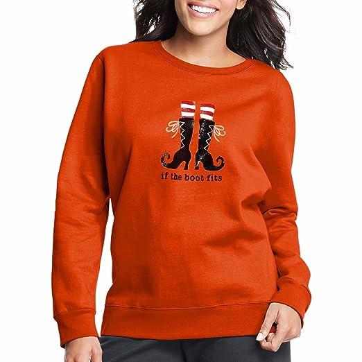 Just My Size EcoSmart Women's Plus Halloween Fleece Sweatshirts