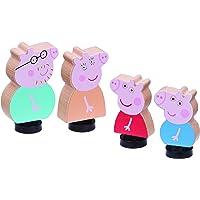 Peppa Pig Pack 4 Figuras Madera Familia Pig