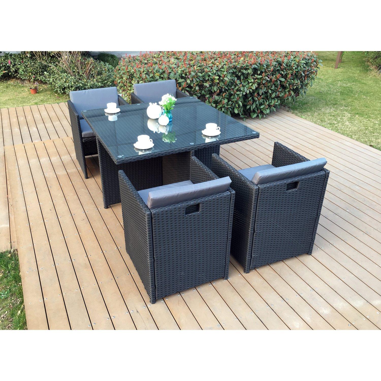 Amazon.de: Mein Fabrik lsr-310-bk/G 4 C Das Vito Lounge Garten ...