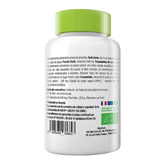 ALCACHOFA BIO - 90 Capsulas - 100% Natural - Poderoso Depurador del Organismo - Regenerador de Células del Higado - Puro Concentrado - Certificado ECOCERT ...