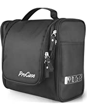 ProCase Toiletry Bag with Hanging Hook, Organizer for Travel Accessories, Makeup, Shampoo, Cosmetic, Personal Items, Bathroom Storage with Hanging