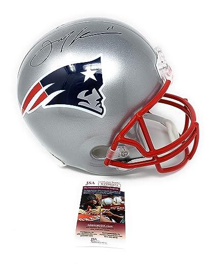 ac6146f3f21 Julian Edelman New England Patriots Signed Autograph Full Size Helmet JSA  Witnessed Certified