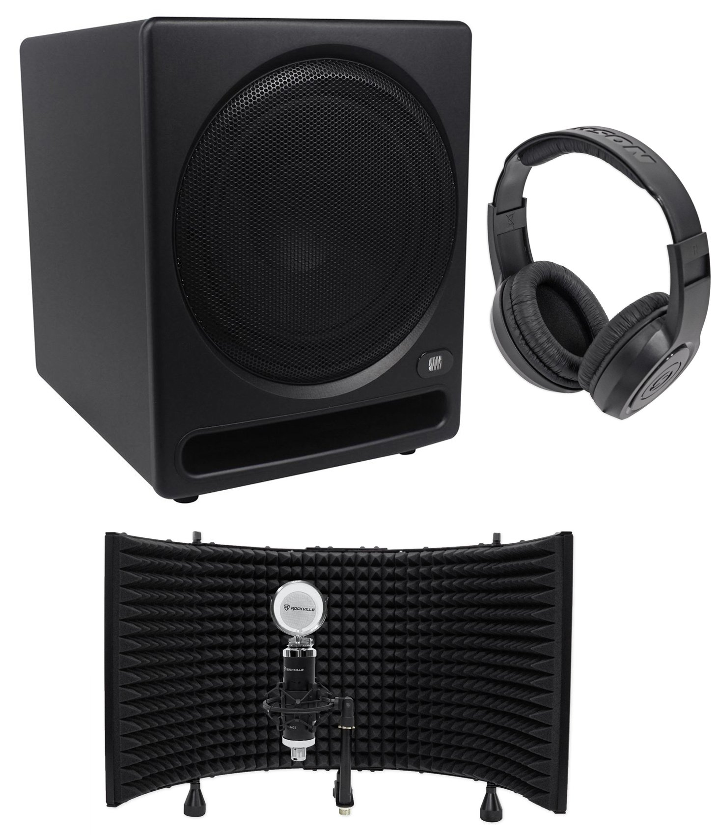 Presonus Temblor T10 10'' 250 Watt Active Studio Subwoofer+Mic+Shield+Speaker